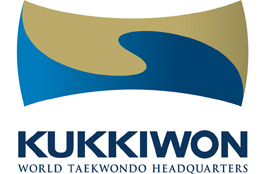 Graphic showing the logo of Kukkiwon, the home of Taekwondo