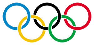 Graphic showing the Olympic logo.